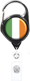 Officially Needed-Ireland Country ID Badge Holder, Black Retractable Carabiner Clip | Great Office Supplies or Holding Keys | Gifts for Women, Teachers, Nurses, Professionals, Government, New Hires