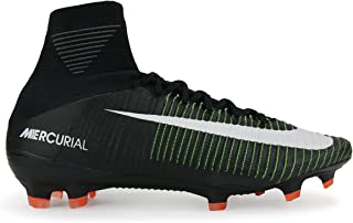 Men's Mercurial Superfly V FG Black/White/Electric Green Shoes