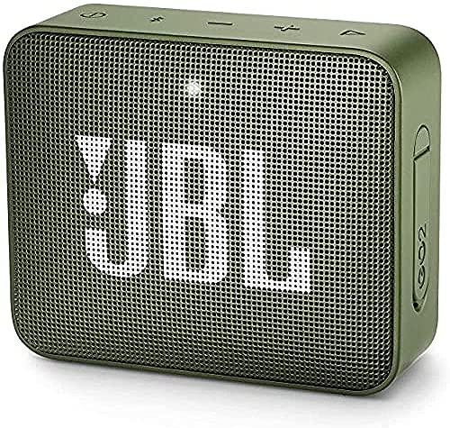 Softeam JBL GO - Altavoz Bluetooth portátil, Impermeable IPX7, con micrófono, hasta 5 Horas de autonomía, Verde Musgo