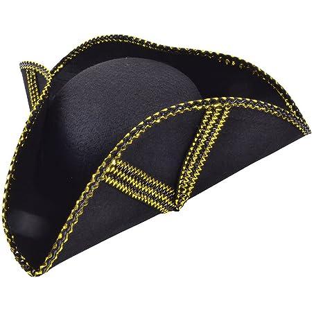 Adult Pirate Fancy Dress Tricorn Hat