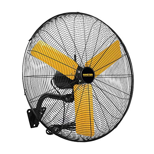 Master Mac-24WOSC High Velocity Wall Fan, 24, Black