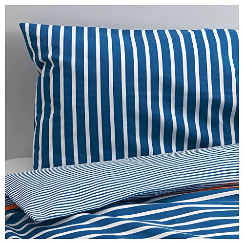 Ikea Skamtsam Crib Duvet Cover / Pillowcase, Dark Blue