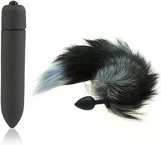 Člamp-AU-ALOve-110811 10 Speed Vibràtór Silicone Fox Tail Äñål Plug Butt Plugs For Men Woman Vǐbrātìng Bullet Éròtíc Products Angryed-Linelove-2019-KI389106