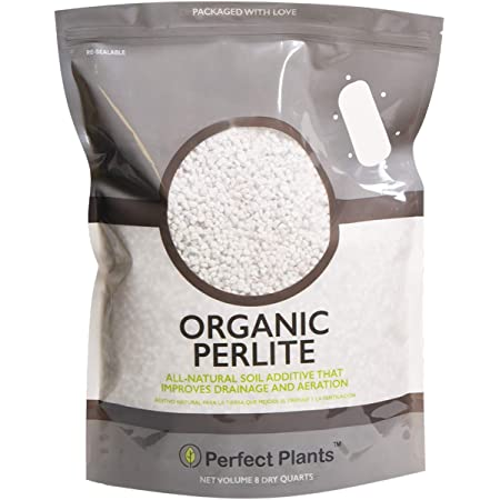 Organic Perlite by Perfect Plants — Add to Soil for Indoor & Outdoor Container Plants for Drainage Management and Enhanced Growth (8qts.)