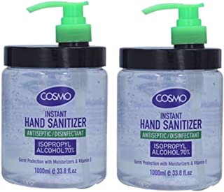 BEST SELLING Hand Sanitizer 1000ml Antiseptic/Disenfectant Isopropyl Alcohol 70% (Cosmo 2 PCS))