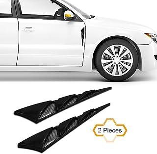 COGEEK 2PCS Universal Triangle Shape Car Air Simulation Vent Decorative Intake Grille Wind Net Sticker (black)