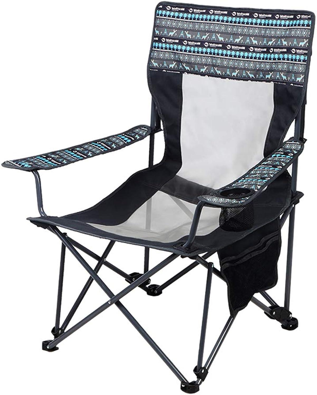 Hxx Tragbare Campingstühle Outdoor-Reisesitz Angelstuhl Outdoor Lounge Strandstühle mit Getrnkehalter & Tragetasche Hhenverstellbar,C