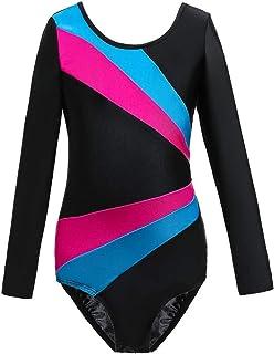 لباس رقص جمباز رياضي من فيربير للفتيات، بدلة رقص باليه رياضية للفتيات