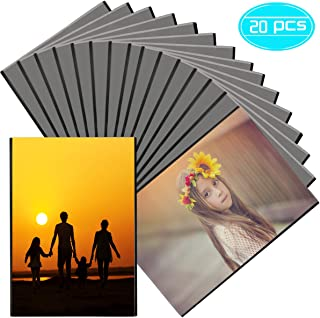 Weoxpr 20 Pack 4 x 6 Magnetic Photo Frame, Black Magnet Picture Frame, Magnetic Photo Sleeves with Clear Photo Pocket for Refrigerator, Fridge, Cabinet, Whiteboard