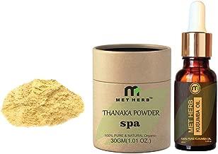 Pure & Natural Thanaka powder 30g & Kusumba oil 30ml for permanent hair removal Eco-Friendly Packing …