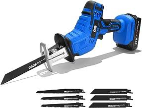 Motosierra Sierra Alternativa inalámbrica 21 V Velocidad Ajustable Madera Metal PVC Corte de Tubos Sierra Alternativa Herramienta eléctrica por