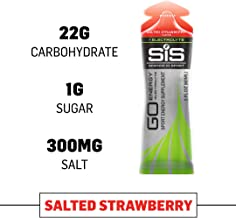 Science in Sport Energy Gel Pack | SIS Isotonic Energy Gel, 22g Fast Acting Carbs, Performance & Endurance Gels, Salted Strawberry Flavor - 2 Oz. (30 Pack)