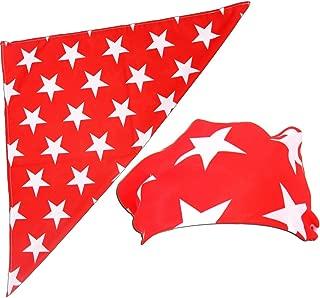 red bandana with white stars