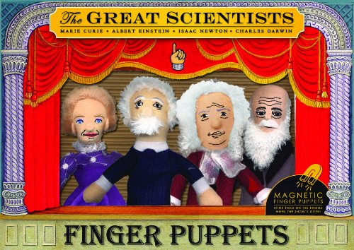 Unemployed Philosophers Guild Isaac Newton Finger Puppet and Refrigerator Magnet For Kids and Adults