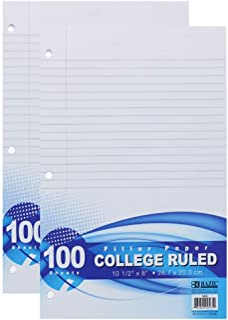 OCD Bargain BAZIC College Ruled 100 Ct. Filler Paper, 2-Pack