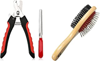 Pets Empire Dog Nail Cutter with Clipper, Multicolor + Hair Brush for Pets Fur Shedding Comb for Dogs, Cats and Rabbits