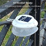 TechCode Solar Light, LED Solar Powered Light Garden Fence Yard Lights Pathway Waterproof Outdoor UFO Light IP55 Waterproof Outdoor Security Lamp LED Lighting Wall Decorations (Warm-White)