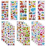Mega Variety Kids Stickers: Each pack include 24 different sheets, more than 550, rich content can make for hours of creative fun and subtle influence kids' imagination and creativity! It is worth mentioning that most of their sizes have 3/5 of the d...