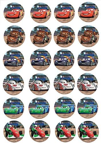 24 Muffin & Cupcake Aufleger Fondant Cars C1