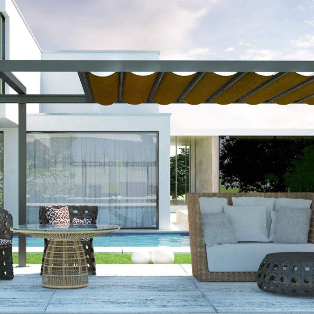 GuoWei- Velas de sombra 85% Solar Obstruido Malla Neto Transpirable con Ojales para Cubrir Jardin Plantas Pérgola Al Aire Libre Personalizable (Color : Brown, Size ...