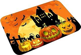 vwlvrsco Halloween Style Door Mat Doormat Non-Skid Easy to Wash Outdoor Doormats Multi Patterns Halloween Door Carpet for ...