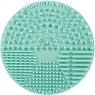 Brush Cleaning Mat ,Silicone Makeup Cleaning Brush Scrubber Mat Portable Washing Tool Cosmetic...