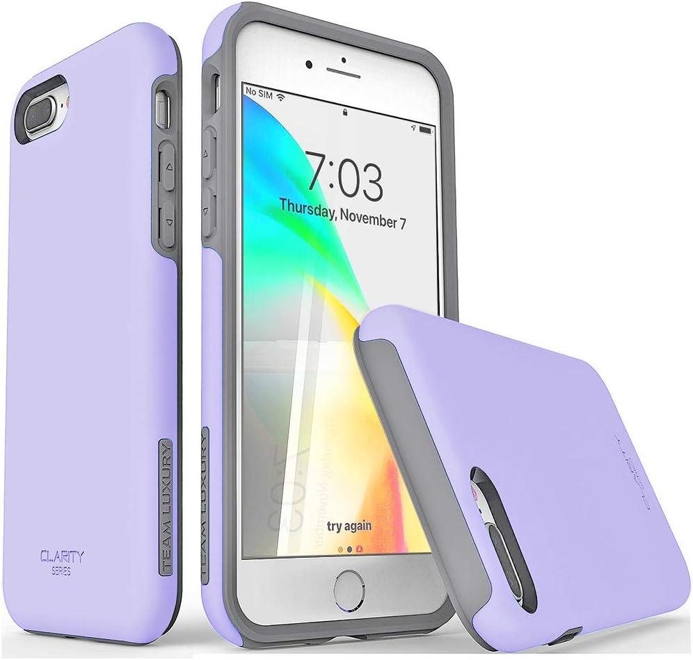 TEAM LUXURY iPhone 7 Plus case/iPhone 8 Plus case, [Clarity Series] Purple [G-II] Ultra Defender TPU + PC Shock Absorbent Protective Case - for Apple iPhone 7 Plus & 8 Plus 5.5