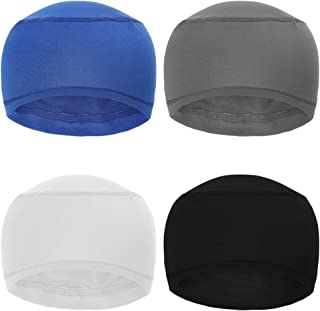 BKpearl 4 Pack Sweat Wicking Helmet Liner, Cooling Skull Cap Cycling Running Hat Cap or Men and Women