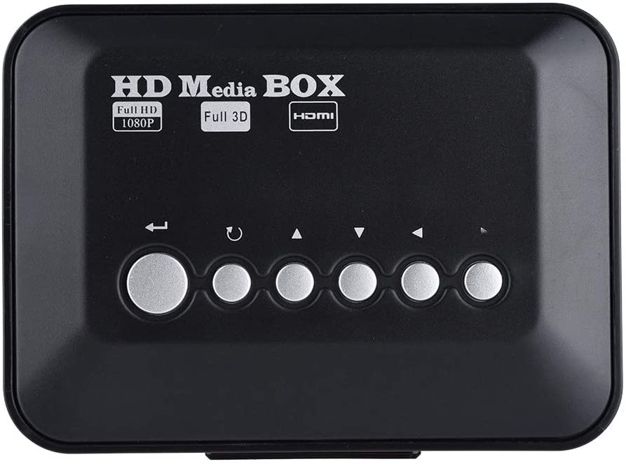 Pinsofy Audio Video Player, Media Player, HD Video Player, 1080P HD with IR Remote Control HDMI Audio for MP3 MPEG RMVB(U.S. regulations)