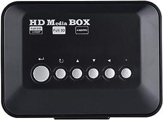 HDMIのメディアプレイヤー Fosa 1080 pウルトラHDデジタルメディアプレーヤーボックス IRリモコンサポートUSBドライブとSDカード(ブラック USプラグ)