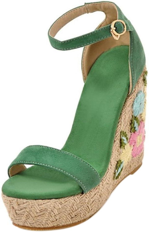 Cular Acci Women Ankle Strap Sandals Heels Flora