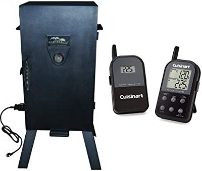 Masterbuilt 20070210 30-Inch Black Electric Analog Smoker with Cuisinart Thermometer