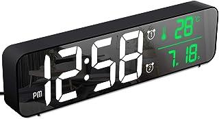 MOSUORelojDespertadorDigital,RelojdeParedconTemperaturaTiempoFecha,10