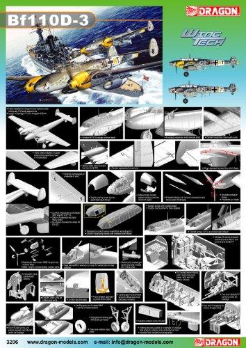 Dragon - D3206 - Maquette - Messerschmitt - BF110D-3 - Echelle 1:32