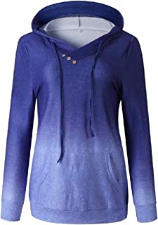 Women's Cowl Neck Casual Long Sleeve Hoodie Pullover Sweatshirt with Pocket
