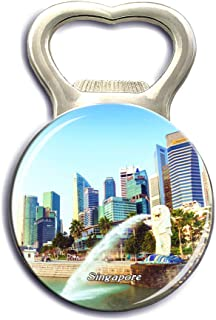 Jollin Singapore Merlion Gardens by the Bay Refrigerator Magnet Strong Bottle Opener Fridge Magnet Stickers Crystal Glass City Tourist Souvenirs Kitchen Whiteboard Decoration