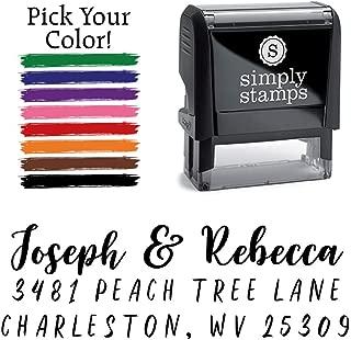 Custom Return Address Stamp, Joseph & Rebecca Personalized Self-Inking Address Stamp