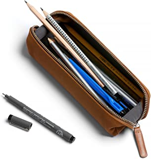 Bellroy Pencil Case, Work Accessories, Leather Fabric (pens, Cables, Stationery and Personal Items) - Tan