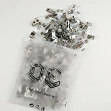 DE Metal Badge Clips with PVC Straps - 100/pack (100)