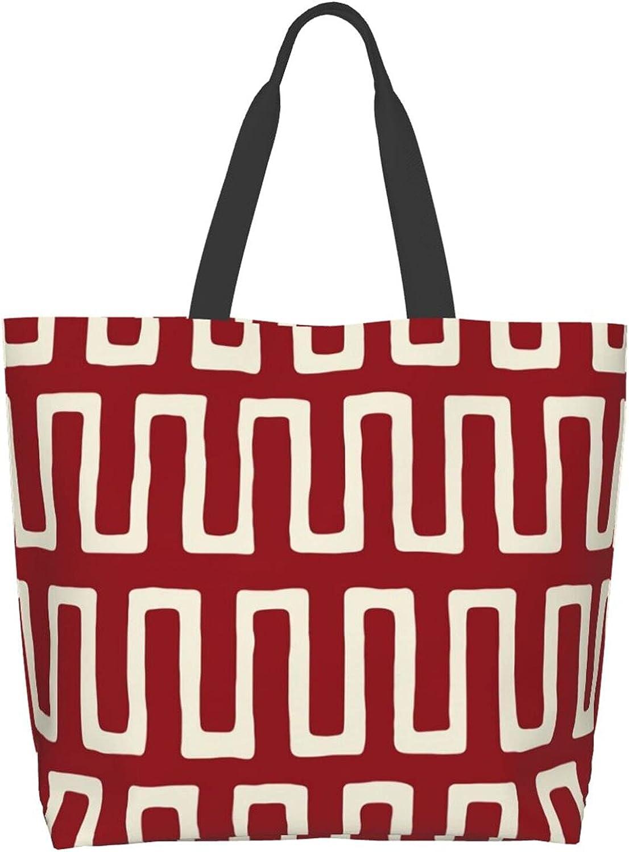 Women Tote Superior Bag Urn In Travel Portab Carmine Direct stock discount Shoulder Handbag