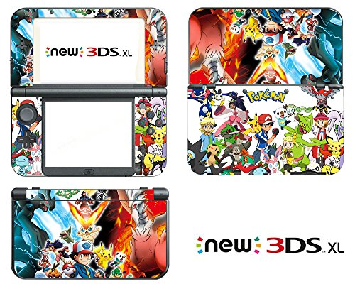 Vanknight Vinyl Decals Skin Sticker Anime for the New Nintendo 3DS XL 2015