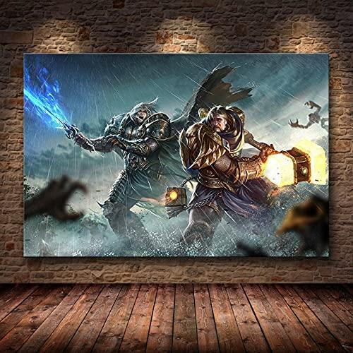 DIY Pintar por números Mapa de World of Warcraft, juego de pintura artística, imagen de mapa del mundo pintura digital por números Con pincel y pintura acrílica para adultos.40x60cm(Sin marco)