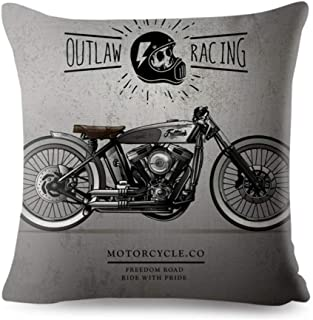 KUSTOM FACTORY - Cuscino vintage Racer Outlaw Motorcycles grigio