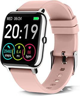 """Rinsmola 2021 Smart Watch for Android/iOS Phones, 1.4"""" Full Touch Screen Fitness Tracker for..."""