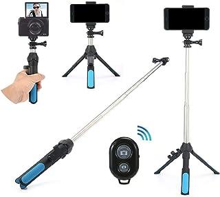 Stick Selfie tr/ípode tr/ípode c/ámara Bluetooth Chat de Video en Vivo y as/í sucesivamente SJI Tr/ípode m/óvil para una Variedad de tel/éfonos Inteligentes