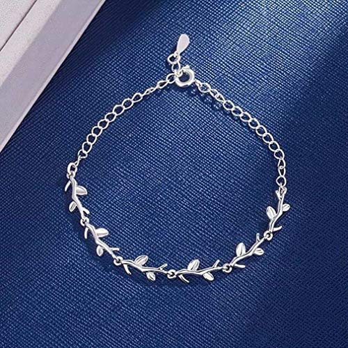 CosMos777 925 Sterling Silver Bracelets Double Layered Stars Beads Chian Bracelets & Bangles for