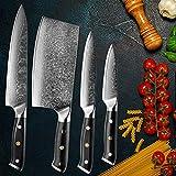 Damasco 67 capas Acero Cocina Cuchillo Chef Cuchillo Sharp Set Cuchillo Sankotu Cuchillo de cocina Cuchillo de cocina Cocina Cuchillo multifunción (Color : 7inch cleaver knife)