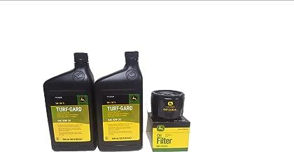 John Deere 2 Quarts Turf-Gard SAE 10W-30 Oil Plus AM125424 Filter. Fits Many Lawn Mowers - Check Description