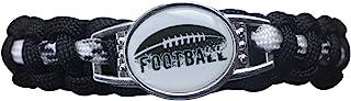 Boys Football Bracelet, Adjustable Football Paracord Bracelets for Kids-Perfect Football Player Gift