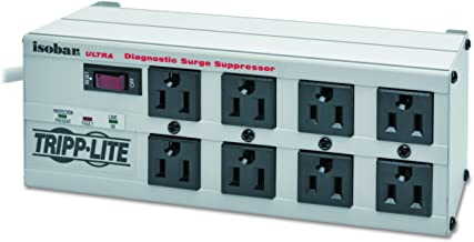 Tripp Lite Isobar 8 Outlet Surge Protector Power Strip, 25ft Long Cord, Right-Angle Plug, Metal, & $50,000 INSURANCE (ISOBAR825ULTRA)